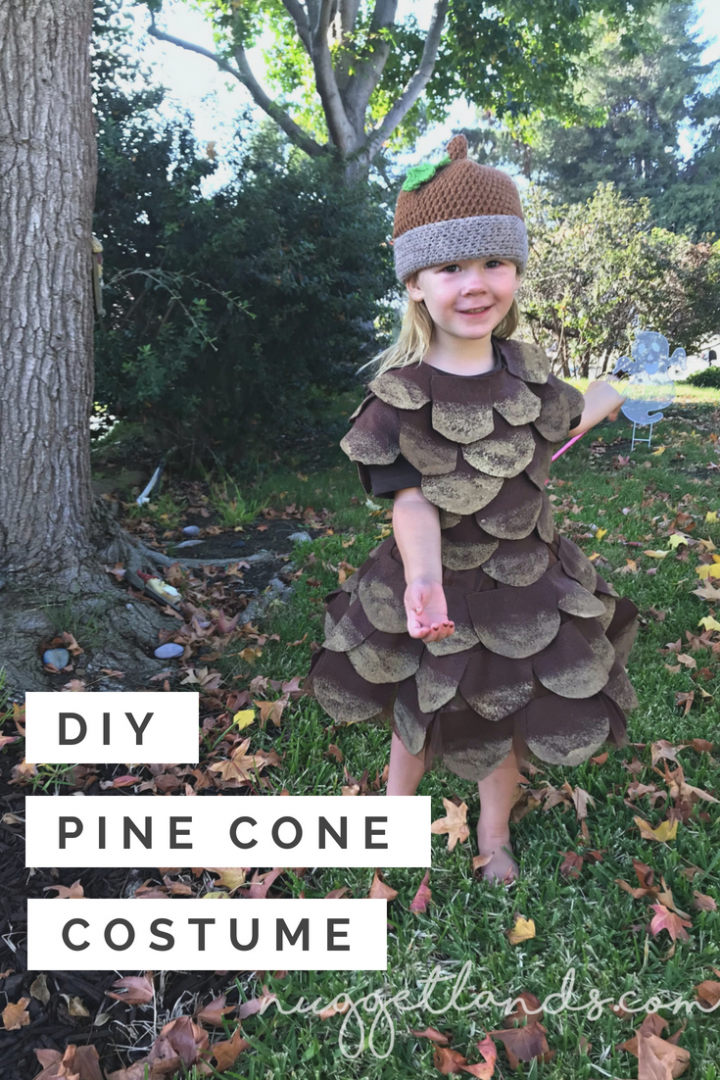How to make a unique DIY Pine Cone Halloween Costume