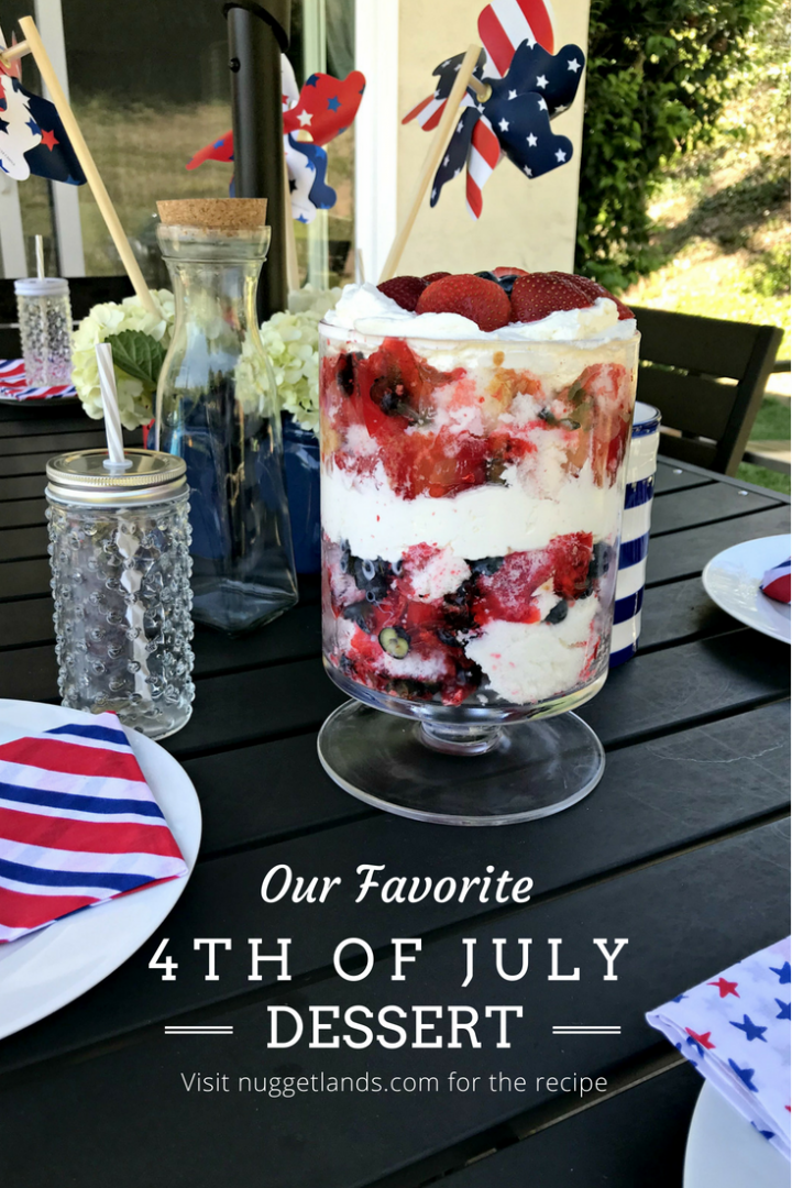 Patriotic 4th of July Dessert