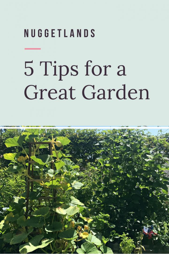 5 Garden Tips for Great Vegetables