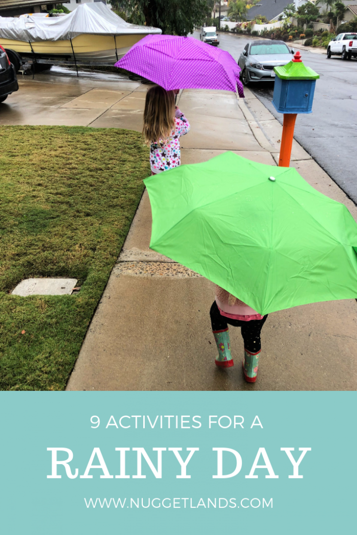 9 Rainy Day Activities to Maintain Your Sanity
