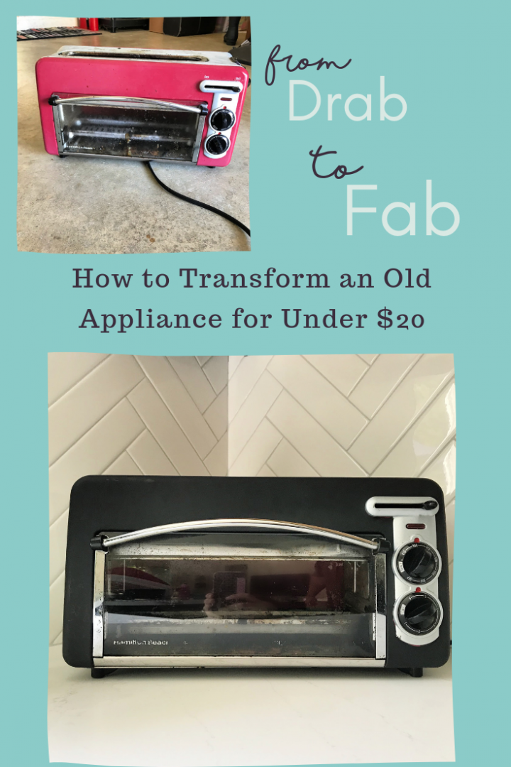 Black Toaster Oven Transformation For Under $20